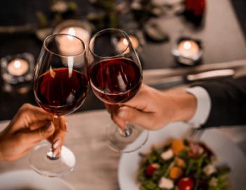 romantic dinner wine hilton head