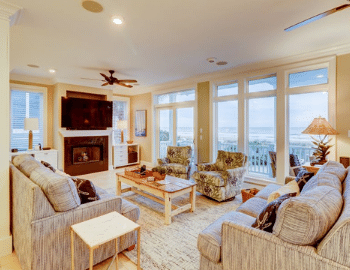 beach properties gorgeous living room view