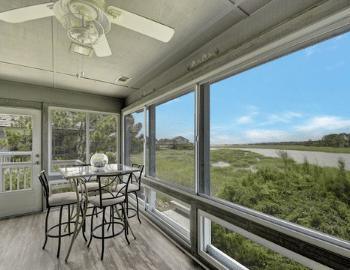 beach properties porch view