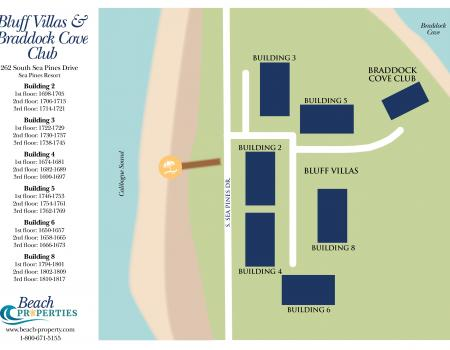 Map of Bluff Villas Hilton Head Island