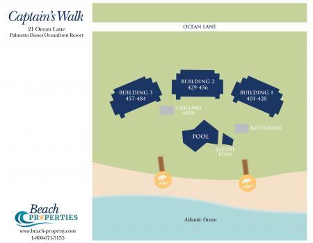 Captains Walk Complex Map Hilton Head Island