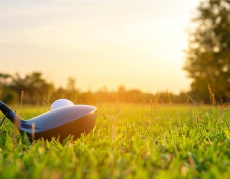 close up golf club