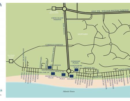Forest Beach Hilton Head Map