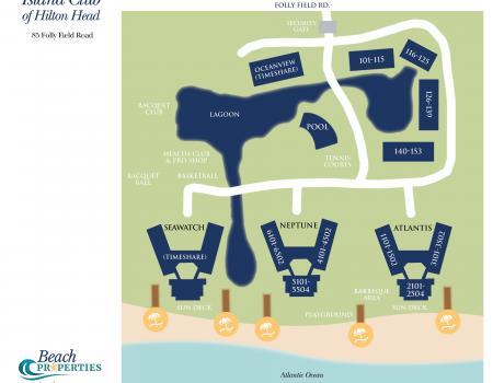 Map of Island Club on Hilton Head Island
