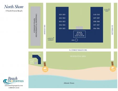Map of North Shore Place Hilton Head Island