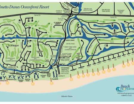 Map of Palmetto Dunes Hilton Head Island