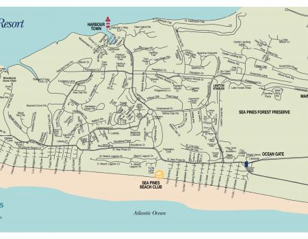 Sea Pines Map Hilton Head Island