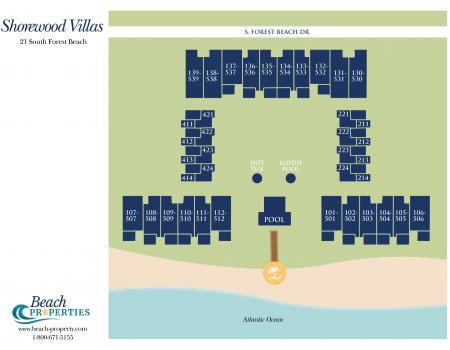 Map Shorewood Complex Hilton Head Island