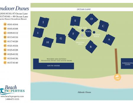 Map of Wendover Dunes Hilton Head