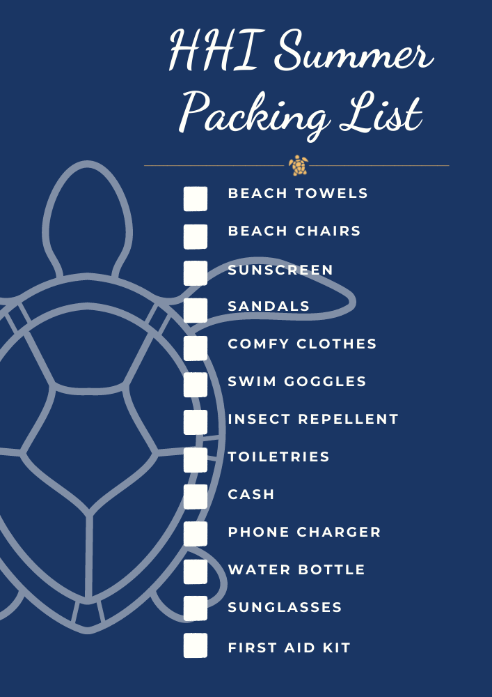 hhi summer packing list don't forget